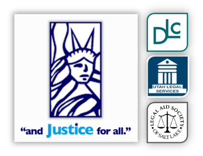 DLC, Utah Legal Services, and the Legal Aid Society form and Justice for all.