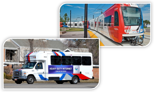 Transportation mediums that demonstrate accessible transportation.